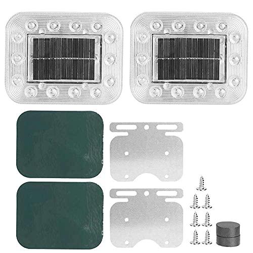 qinjun Luz de advertencia solar lámpara de advertencia LED universal intermitente luz estroboscópica de emergencia luz de advertencia de reemplazo para coche camión accesorio