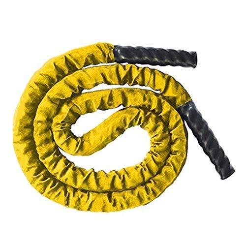 LWSHOP LYRStore886 2.8M Batalla Gruesa Pesada Que Salta la Cuerda de la Cuerda Fitness Poder Popilado de Fuerza for Accesorios de Ejercicio efectivos Fitness, Duradero (Color : Yellow)