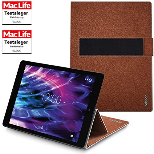 Hülle für Medion Lifetab P9702 Tasche Cover Case Bumper | in Braun Leder | Testsieger