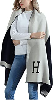 Women Shawl Scarf Winter Poncho Capes Wraps H Pattern Shawl Cardigans Scarves Stoles