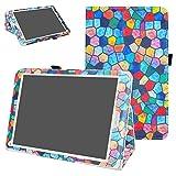 Mama Mouth Archos 97C Platinum Coque, Slim Folio PU Cuir Debout Fonction Housse Coque Étui Couverture pour 9.7' Archos 97C Platinum Android 6.0 Tablet PC,Stained Glass