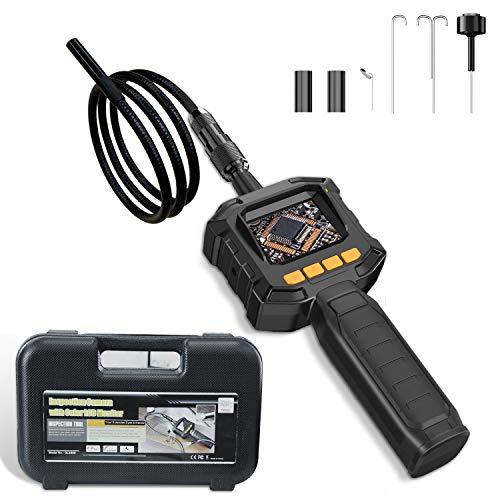 JUMPER Telecamera di Ispezione con Boroscopio Schermo Monitor LCD e Uscita Video, IP67 Impermeabile, 4 Luci a LED a Luminosità, Lente Diametro 8 mm