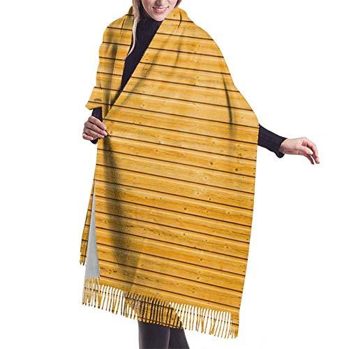 Bufanda de cachemira de bambú con textura de tablero, bufanda de lana de cachemir suave, chal grande, 187 x 27 pulgadas, Negro, Talla...