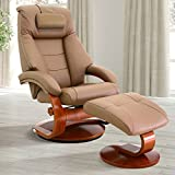Oslo Collection Mac Motion Recliner, One Size, Sand/Tan