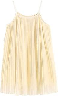 Flameer Summer Family Matching Dress Sleeveless Stitching Dress Parent-Child Slip Dress Kids Princess Dress