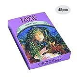 Cartas del Tarot, Cartas de la Serie Magic Earth, Estilo de Pintura Exquisito, Textura cómoda, Adecuado para Todos en la Fiesta, la Vida Diaria y el Tiempo Libre