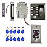 PETSOLA Kit de Sistema de Control de Acceso para Puerta de Entrada de Casa con Controlador de Huella Digital