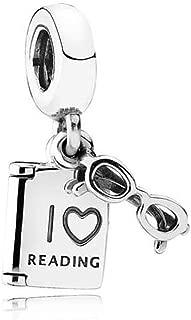 Romántico Amor l Love Reading Charm Open Book 925 Sterling Sliver Dangle Beads fit Pandora Bracelets