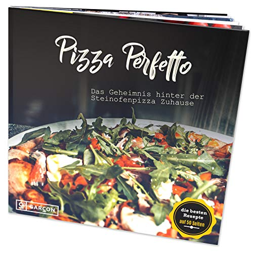 GARCON® Pizza Kochbuch Pizza Perfetto - Der Leitfaden für originalen Pizza-Genuss zuhause