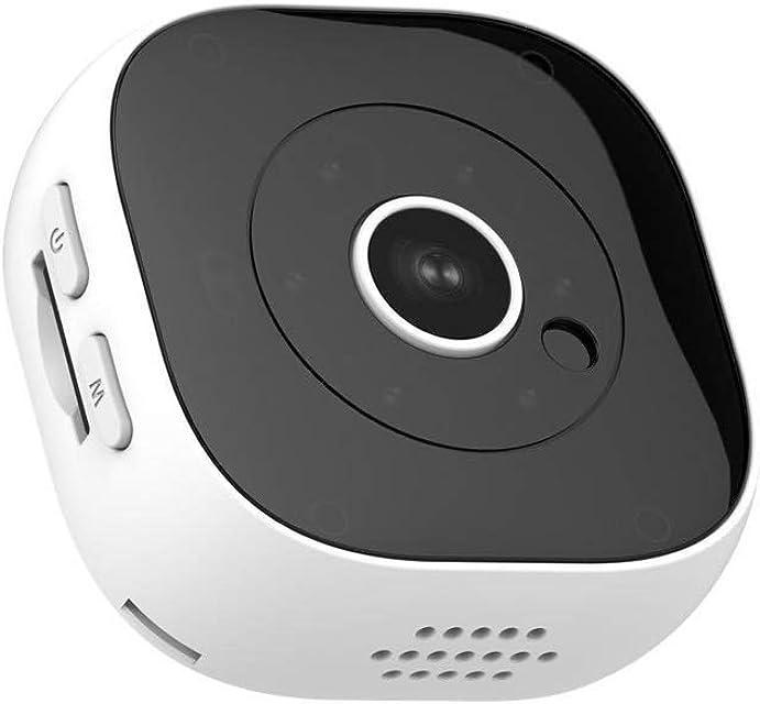 Candicely Cámara de Acción 30fps visión Nocturna Deportes Mini cámara 1080P (Color : White Size : One Size)