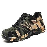 Zapatillas de Seguridad para Hombre Antideslizante Calzado de Trabajo para Ligeras Comodas 35-50