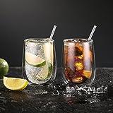Glastal Doppelwandige Latte Macchiato Glaser Set Kaffeeglas Trinkgläser 6-teiliges 350ml (Volle Kapazität) - 4