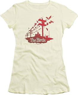 Birds - - Mujeres en un alambre T-Shirt En Crema