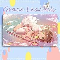 GraceLeacock カードゲームプレイマット 遊戯王 プレイマット カードキャプターさくら きのもと さくら TCG万能 収納ケース付き アニメ 萌え カード枠なし (60cm * 35cm * 0.5cm)