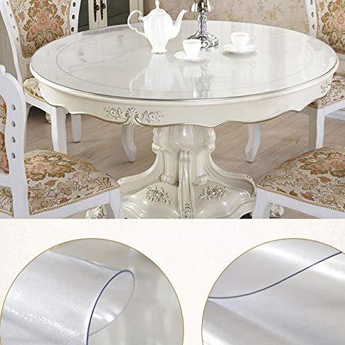 Aututer Runde Tischdecke Tischdecke transparent PVC D wasserdichte Tischdecke, Öl Tischdecke Glas weiches Tuch mit Küchenmuster