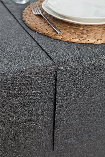 Rollmayer abwaschbar Tischläufer Wasserabweisend/Lotuseffekt (Melange Aschgrau 20, 40x120cm) Leinenoptik Tischtuch mit pflegeleicht Fleckschutz, Rechteckig, Farbe & Größe wählbar