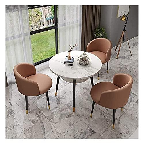 Cocina Mesa de ocio Mesa de comedor Conjunto para cocina o decoración del hotel, mesa de ocio y silla Combinación de oficina Mesas de recepción y sillas Doble mármol Mesa de comedor redonda Mesa de ce