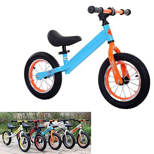 GJQDDP Balance Bike, Bicicleta de Entrenamiento Boy Girl Bicicleta sin Pedales Equilibrio para Caminar Bicicleta para niños y niñas Bicicleta de Entrenamiento,Azul