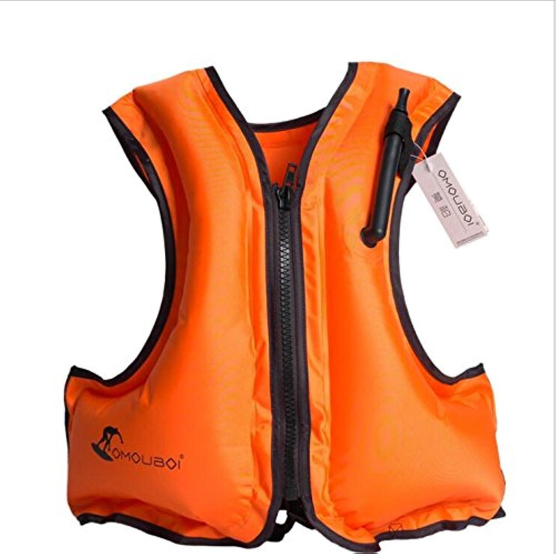 大人用 インフレータブル ライフジャケット Kingswell 膨張式 超浮力 救命胴衣 スノーケルベスト ポータブルシュノーケリング 安全水着 エアジャケット