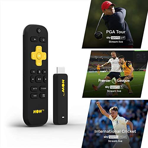 Chiavetta smart per NOW TV, con HD e funzione di ricerca vocale. Incluso Sky Sport Pass da 1 mese (versione italiana non garantita)