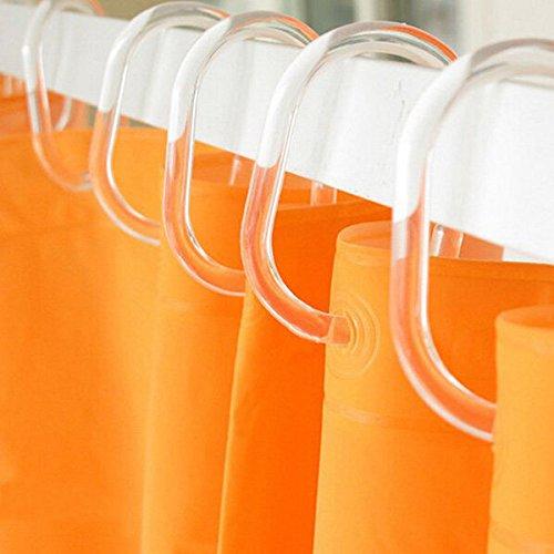 Bazaar 12st C type doorzichtig plastic douchegordijn haak badkamer gordijn Glide Hanger