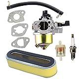 Hippotech エアフィルター付きキャブレターはホンダGXV120 GXV140 GXV160エンジンHR194 HR195 HR214 HRA214 HR215 HR216 HRA216 HRC216芝刈り機に適合