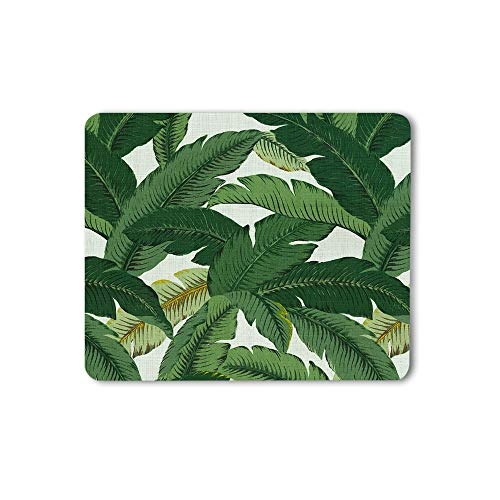 Moslion Banana Leaves Mouse Pad Fashion Fresh Nature Tropical Tree Green Gaming Mouse Mat Non-Slip Rubber Base Thick Mousepad for Laptop Computer PC 9.5x7.9 Inch