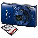 Canon PowerShot ELPH 190 IS Digital Camera (Blue) W/ 32GB SD Card