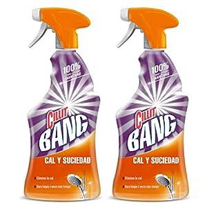 CILLIT Bang – Spray Limpiador Cal y Suciedad, para Baños – Pack 2 x 750 ml