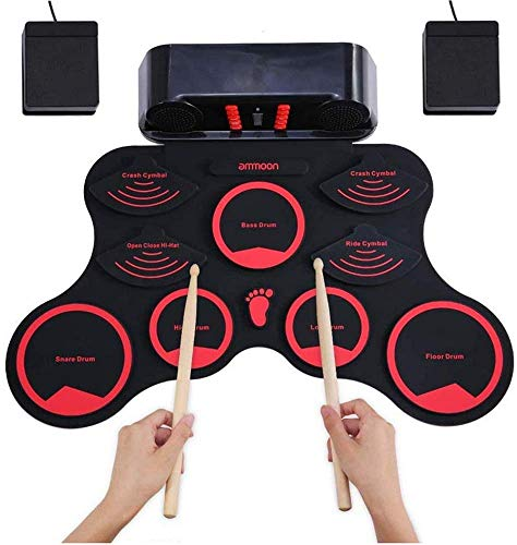Affordable JZJSZB Electronic Drum USB Charging Hand roll Drum kit Convenient Musical Toys Durable Bu...