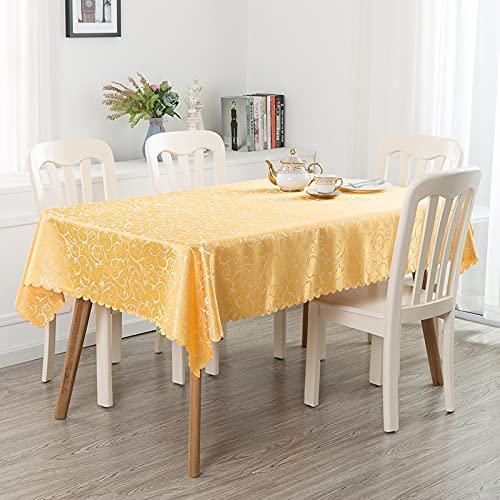 LIUJIU Mantel de poliéster lavable, resistente al agua y a las arrugas, ideal para manteles de cocina, comedor, 1,4 x 1,4 m
