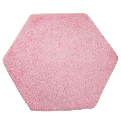 SYN almohadilla de terciopelo, alfombra hexagonal para niños, casa de juegos, alfombra de juego para bebé, juego de escalada, alfombra para niños, tiendas de campaña, castillo de princesa,Rosa