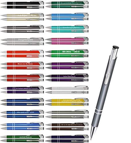 Creativgravur Aluminium - Kugelschreiber Cosmo Lasergravur Sortenrein o. Gemischt Einheitl. Gravur 26 Farben - Menge:25 Stück