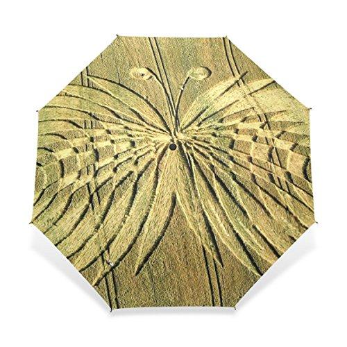 Paraguas de Golf a Prueba de Viento Compacto para Viajar con fácil Transporte Deportes Paraguas de Lluvia Marco Fuerte Patrón de círculo de Cultivo irrompible