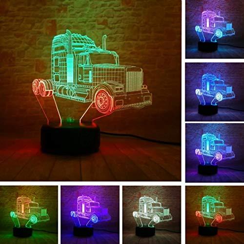 7 Farbwechsel Touch Switch Tisch Schreibtisch Dekoration Lampen perfekte Weihnachtsgeschenk mit Acryl Flat ABS Base USB Spielzeug 3D Fashion Motorcycle Lampe optische Illusion Nachtlicht