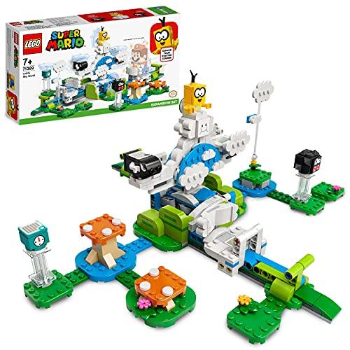 LEGO 71389 Super Mario Lakitus Wolkenwelt – Erweiterungsset, baubares Kinderspielzeug zum Sammeln, Geschenkidee