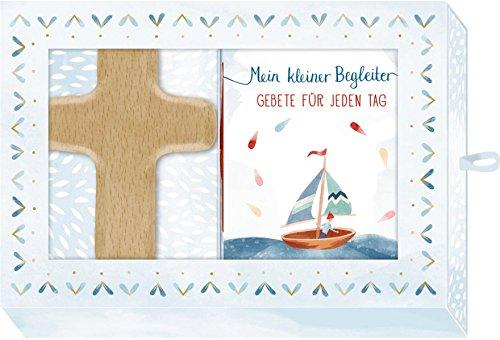 Geschenkbox - Mein kleiner Begleiter: Holzkreuz-Handschmeichler (natur) mit Büchlein: Holzkreuz-Handschmeichler (natur) mit Bchlein