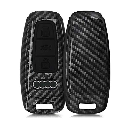 kwmobile Funda Compatible con Audi A6 A7 A8 Q7 Q8 Llave de Coche Keyless de 3 Botones - Carcasa Dura