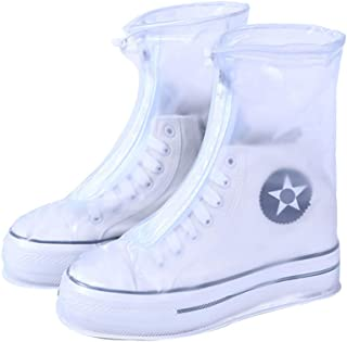 IUL Reusable Rain Boot Rain Shoe Covers Non Slip Waterproof Overshoes Foldable Galoshes Men/Women/Kids