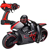 yanzz Coche de Juguete de Control Remoto para niño, 2.4Ghz Mini Fashion RC Motorcycle Toy High Speed ​​RC Motorbike Model Toys con luz Tumbling Stunt Racing