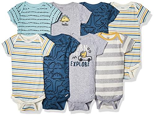 Gerber Baby Boys' 8-Pack Short Sleeve Onesies Bodysuits Toddler T-Shirt...