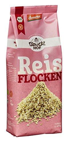 Bauckhof Bio Reisflocken Vollkorn glutenfrei Demeter (1 x 475 gr)