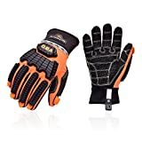 Vgo 1 Pair Synthetic Leather Cut Resistant Medium Duty Mechanic Work Gloves, Oil