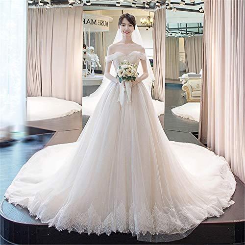 ZZHS A line Moderne Brautkleider Hals zurück knöpfen zurück flachs Seide brautkleid trägerlosen Schulter zurück v-Ausschnitt edle Desig XL
