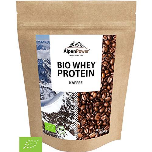 ALPENPOWER | BIO WHEY Protein Kaffee | Ohne Zusatzstoffe | 100% natürliche Zutaten | Bio-Milch aus Bayern und Österreich | Hochwertiges Eiweißpulver | 1000 g