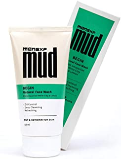 Mensxp MUD Natural Face Wash With Amazonian White Clay & Lemon For Oily & Combination Skin, 150 ml No Sulfates, No Parabens