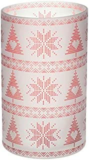 Calentador de Cera YANKEE CANDLE Mountian Holiday Red Nordic Frosted Cristal, 14 cm Multicolor