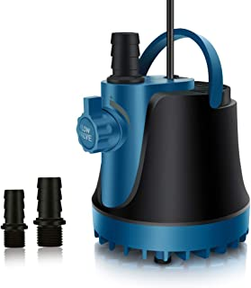 PULACO 420-660 GPH Ultra Quiet Submersible Pump with 5.9ft Power Cord for Aquarium Fish Tank, Pond, Fountain, Hydroponics, Statuary