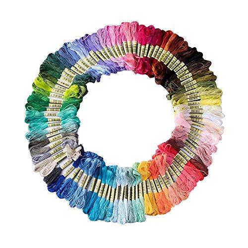 Huixindd Arco Iris Bordado flouss Ancla Similar Punto de Cruz algodón Bordado Hilo Hilo Costura madejas artesanía (Color : 25 Color)