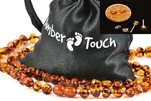 Baltic Amber Necklace for Adult + Amber Earrings - Headache, Migraine, Sinus, Arthritis, Carpal Tunnel, Nursing Pain Relief